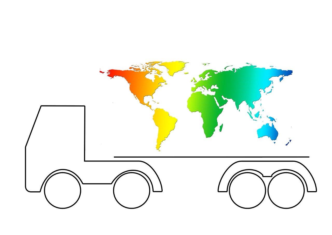 משאית ומפה
