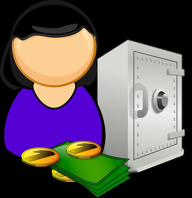 אישה כספת וכסף